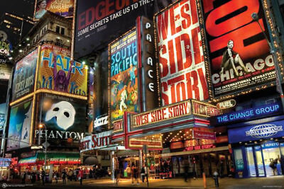 View Details TIMES SQUARE THEATER DISTRICT POSTER - 24x36 SHRINK WRAPPED - ART BROADWAY 9510 • 6.00$