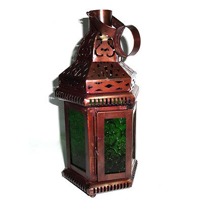 £23.23 • Buy Green Glass Decorative Moroccan Candle Lantern, Candle Holder,  Home Decors