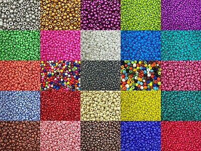 50g Glass Seed Beads - Opaque, Size 6/0 (approx 4mm) - Choice Of Colours, Craft • 1.99£