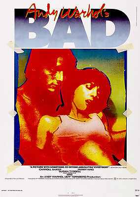 $32.99 • Buy Andy Warhol's BAD - 1977 - Movie Poster