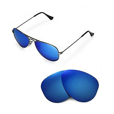 14174cb47 New Walleva Polarized Ice Blue Lenses 4 Ray-Ban Aviator RB3044 Small Metal  52mm •