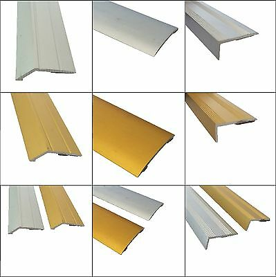Self Adhesive Carpet Metal Cover Strips -  Door Bar - Thresholds - Stickdown • 6.99£