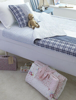 £40.95 • Buy Boys Top Quality Blue & Navy Quilted Sleepover Sleeping Bag Or Quilt - Charles