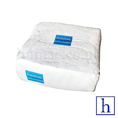 £24.50 • Buy 10KG White Wiper Mechanic Industrial Cleaning Engineering Cloth Rag Cotton Poly