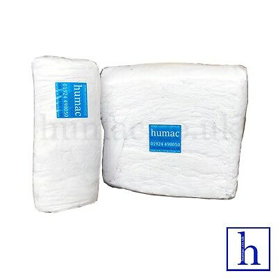 £39.99 • Buy 20Kg White Wiper Cleaning Rags Wipers Wiping Mechanic Polishing Cloths - HUMAC