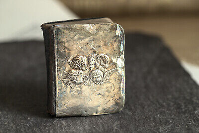 £180.26 • Buy ANTIQUE ENGLISH MINIATURE BOOK OF COMMON PRAYER SILVER COVER W/ ANGELS C1905