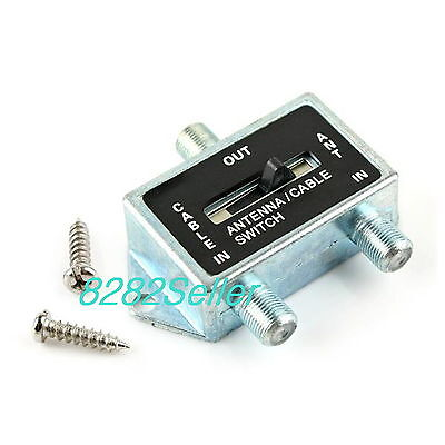 AU9.12 • Buy 2 WAY A/B Coaxial Coax RF Switch SPLITTER Push Button Cable TV Satellite Antenna