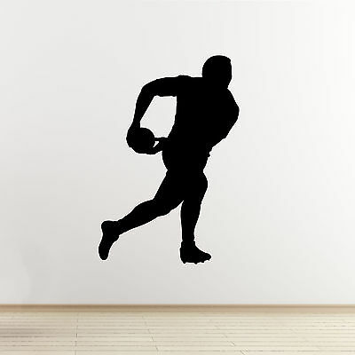 £13.99 • Buy Rugby Player Wall Sticker - Passing The Ball - Self-Adhesive Wall Art Decal