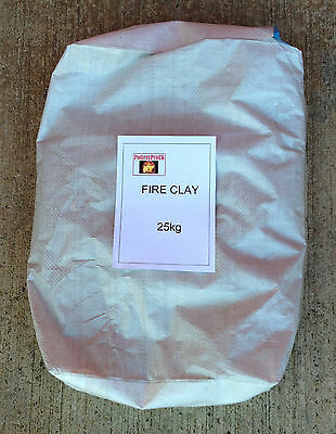 25kg Bag Of Fire Clay To Make Refractory - Furnace - Kiln  - Pizza Oven (65520) • 31.56£