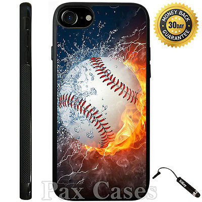 £7.21 • Buy Ice Fire Powerful Baseball Case For IPhone 4/4S/5/5S/5C/6/6+Galaxy S4/S5-RUBBER