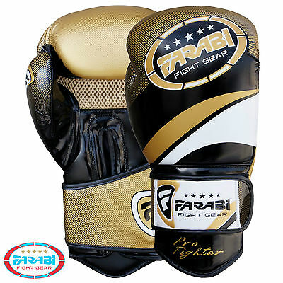 Farabi Pro Fighter Boxing Gloves Sparring Gym Bag Punching Focus Pad Mitts  • 19.99£