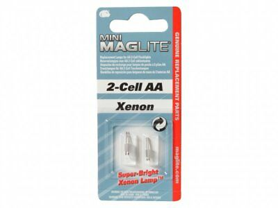 Maglite LM2A001 Pack Of 2 Super Bright Replacement Xenon Bulb Lamp For 2 Cell AA • 5.99£