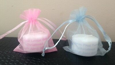 £7 • Buy Personalised Tealight Candle  Christening/ Baptism/ Communion Favours ( X 10)