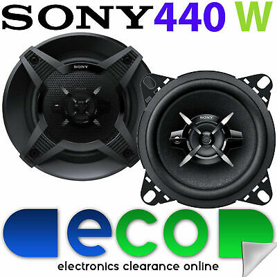 Renault Kangoo Express SONY 10cm 4 Inch 440 Watts 3 Way Front Dash Car Speakers • 27.99£