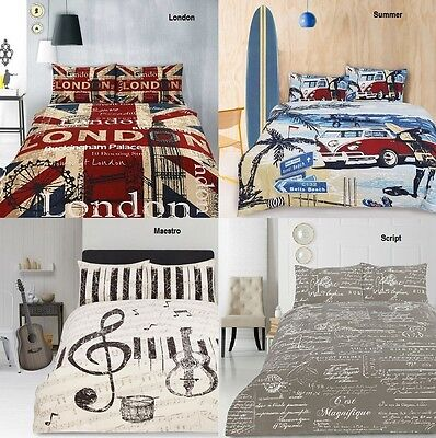 AU85.45 • Buy Retro Home Panel Printed Vintage Quilt Doona Cover Set SINGLE DOUBLE QUEEN KING