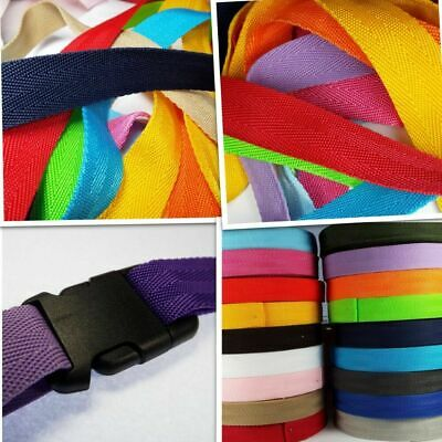 25mm 1.5mm Thick HERRINGBONE Webbing Bag Handles Belting Strapping Strong Nylon • 3.50£