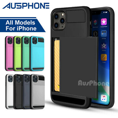 AU5.99 • Buy For Apple IPhone 11 Pro Max XS XR 8 Plus Wallet Slide Card Shockproof Case Cover