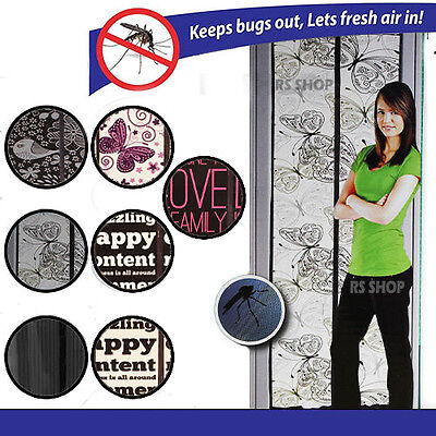 £6.99 • Buy Magnetic Magic Mesh Door Curtain Snap Net Guard Mosquito Fly Bug Insect Screen