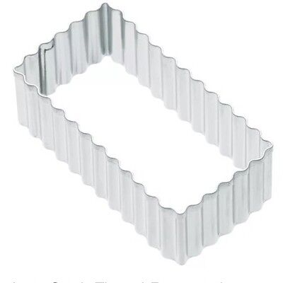 £4 • Buy Kitchen Craft Fluted Rectangle 8cm Biscuit, Pastry, Cookie Cutter