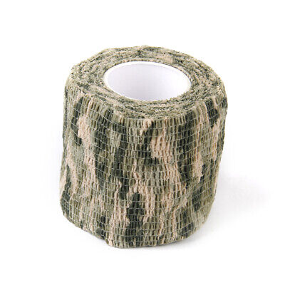 £4.24 • Buy NON-WOVEN CLOTH Camo   Tape Wrap Camouflage Gun Rifle Hunting 4.5mX5cm
