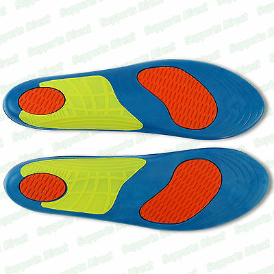 Quality Shock Absorbing Gel Insoles Trainer Boot Shoe Arch Support Heel Cushion  • 3.99£