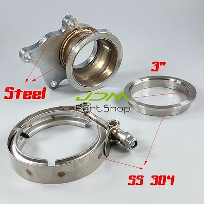 $ CDN87.05 • Buy T3 T3/T4 5 Bolt Turbo Downpipe Flange To 3  76mm V Band Conversion Adaptor Kit