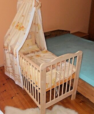 Lit à Barreaux Bébé Set de Complet 2in1jugendbett Convertible 3 Grip Bois Massif