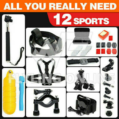 AU25.69 • Buy GoPro Hero Sports Accessories Pack Case Chest Head Floating Monopod 8/7/6/5/4/3