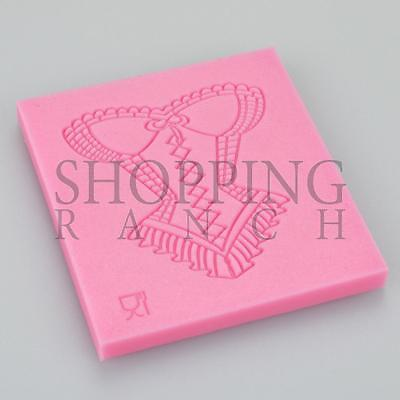 £3.90 • Buy Ladies Cake Lace Corset Impression Silicone Mould Embosser Tool Mat