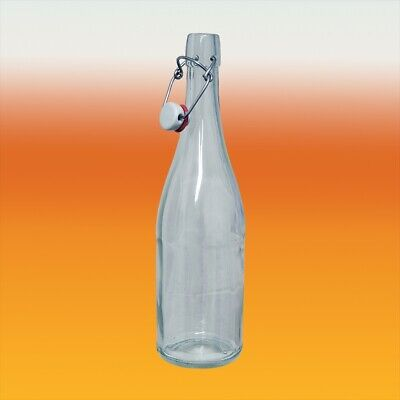 750ml Classic Style Clear Glass Swing Top Bottle - For Champagne, Water And Wine • 8.90£