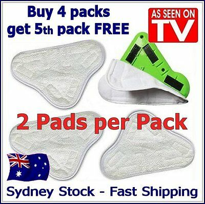 AU8.25 • Buy 2 PADS - Aftermarket H20 StickOn White Cleaning (X5 Steam Mop) Pads Microfiber