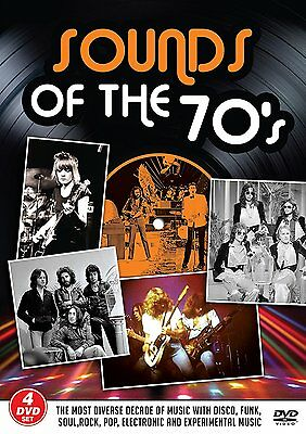 SOUNDS OF THE 70's Disco Funk Soul Rock Pop... BOX 4 DVD NEW .cp • 24.13£