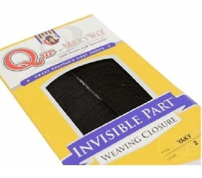 $14.99 • Buy Invisible Part Closure 10  - Que By Milkyway Human Hair Blend Yaky