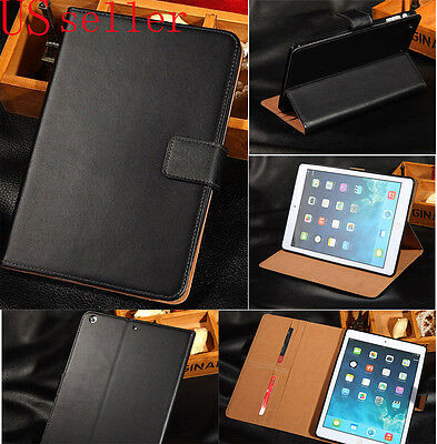 $11.98 • Buy Genuine Leather Flip Smart Case Cover For Apple IPad Mini 2 With Retina Display