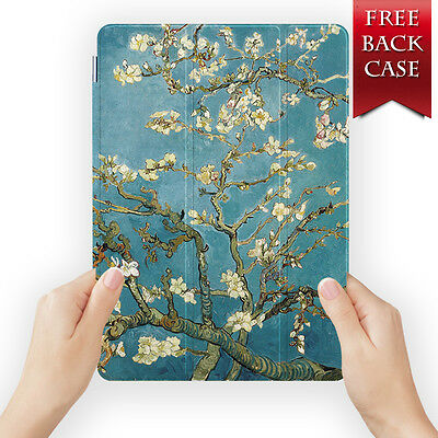 AU19.99 • Buy Almond Blossom Leather Smart Case Cover For Ipad Mini 1 2 3 Pro 10.5