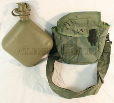 $ CDN11.18 • Buy MINT USGI Military 2 QUART COLLAPSIBLE CANTEEN W/ CARRIER COVER CLIPS AND STRAP