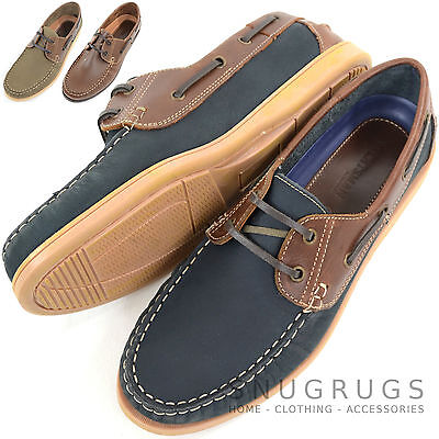 Mens Leather Casual / Formal / Holiday Slip On Boat / Deck Loafer Lace Up Shoes • 29.99£