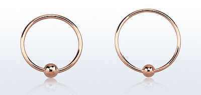 AU6.50 • Buy 1 Rose Gold Plated Silver CBR Fixed Hoop Ring 22g Nose Lip Ear 7mm 9mm 11mm #R56