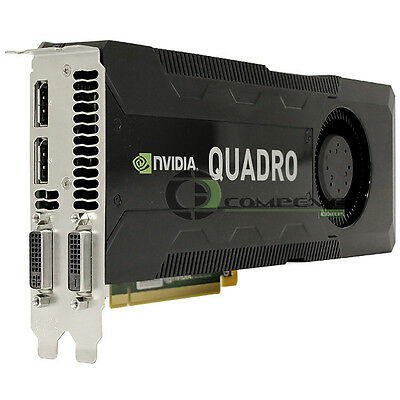 $ CDN1700.52 • Buy NVIDIA Quadro K5000 4GB GDDR5 PCIe 2.0 X16 Dual DP DVI Kepler GPU Graphics Card