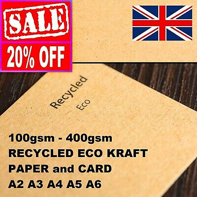 £0.99 • Buy A5 A4 A6 Brown Kraft Card Thick Paper Printer Crafts Making Job Lot Board Blanks