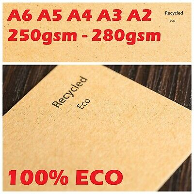 £0.99 • Buy A4 Kraft Brown Card Making Thick Paper Craft Blank Place Tag Box Envelopes Board