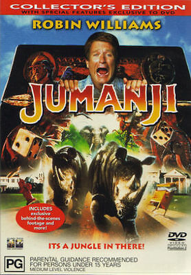 AU15 • Buy JUMANJI  (NEW Region 4 DVD) Robin Williams