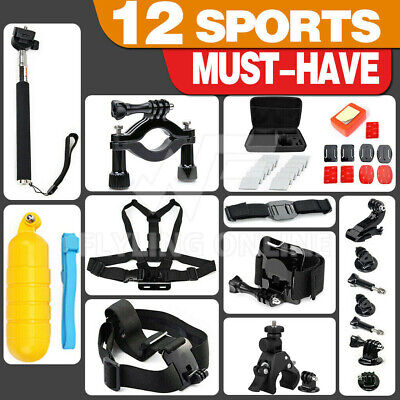 AU12.99 • Buy GoPro Hero Sports Accessories Pack Case Chest Head Floating Monopod 8/7/6/5/4/3