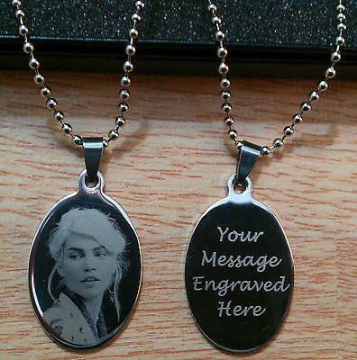 Personalised Engraved Oval Necklace Pendant Army Dog Tags Birthday Gifts • 13.99£