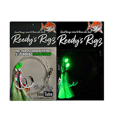 AU17 • Buy 10x Snapper Rigs Paternoster Fishing Flasher Bottom Reef Surf Reedy's® UltraBait