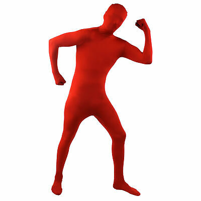 Red Skin Suit Mens Festival Stag Party Fancy Dress Costume Halloween Bodysuit  • 14.99£