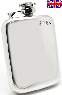 £39.95 • Buy Sheffield Pewter Hip Flask 4oz Captive Top Hand Made In England - Free Engraving