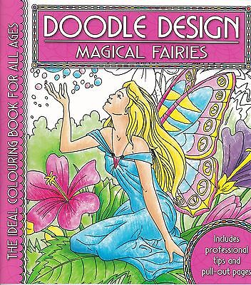 £3.99 • Buy Magical Fairies Colouring Book - Doodle Design - Art Therapy