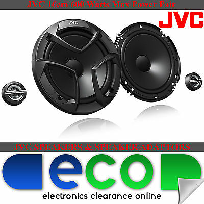 Toyota Avensis 05-14 JVC 16cm 600 Watts 2 Way Front Door Car Component Speakers • 49.99£