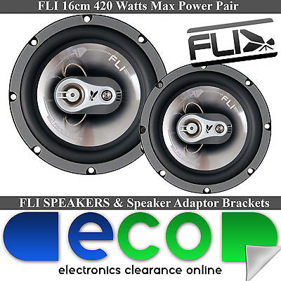Toyota Avensis 05-14 FLI 17cm 6  420 Watts 3 Way Rear Door Car Speakers • 39.95£
